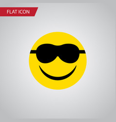 isolated sunglasses flat icon happy vector image vector image