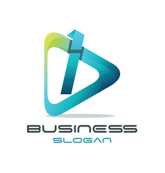 letter i media logo vector image vector image