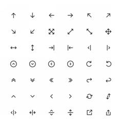 Line arrow icon set vector
