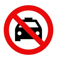 No taxi parking vector image vector image