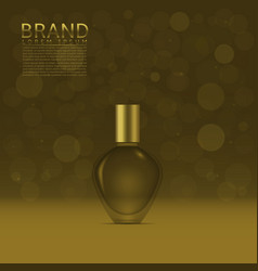 Perfume in a glass bottle vector