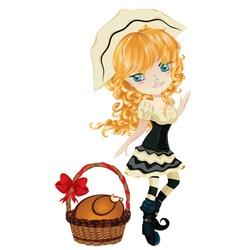 Pilgrim girl vector