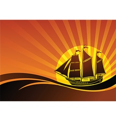 Sail ship background4 vector image
