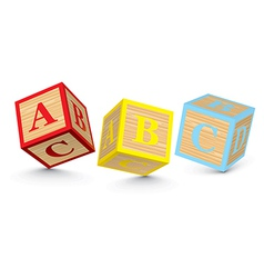 Word abc written with alphabet blocks vector