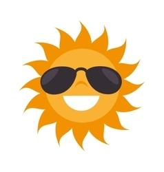 sun sunglasses summer vector image