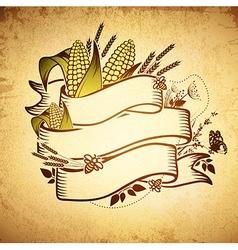 Agricultural Farm Name Ribbon Logo Design vector image