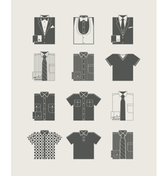 Menswear icon set vector