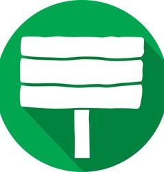 Wooden signboard icon vector