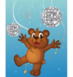 A baby bear dancing vector