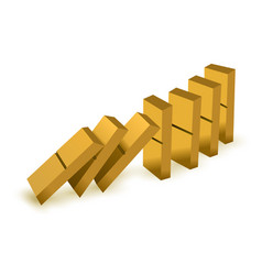 Gold game of domino vector