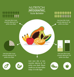 Infographic icon nutrition design graphic vector