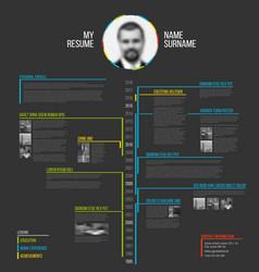 Timeline minimalist cv resume template vector