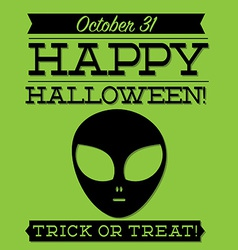 Alien typographic halloween card in format vector
