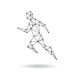Geometric sport man design silhouette vector