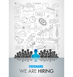 We Are Hiring background for your hiring posters vector image