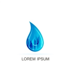 Template water logo vector
