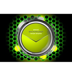 Abstract green technology circles vector