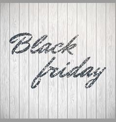 Black friday lettering on white eps 10 vector