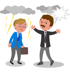 business man and woman arguing vector image vector image