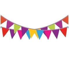 colored bunting party decoration festive vector image