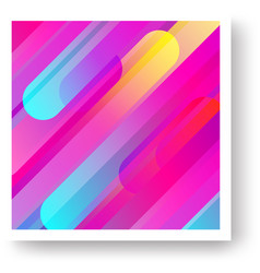 colorful cover with geometric background vector image vector image
