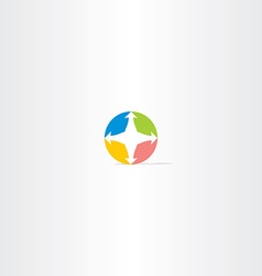 Compass circle icon logo vector