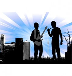 concert with urban vector image vector image