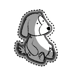 cute dog baby toy icon vector image vector image