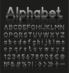 Decorative silver alphabet vector image