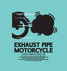 Exhaust Pipe Motorcycle vector image vector image