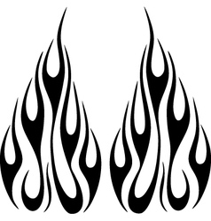 flames6 vector image vector image
