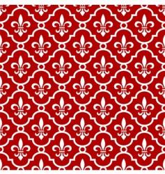 Fleur-de-Lis background vector image vector image