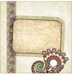 floral grunge vintage template vector image vector image