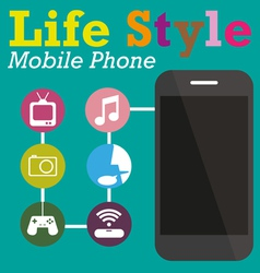 Infographic Function Technology of Mobile phone vector image vector image