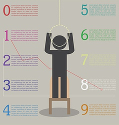 Infographics of the effects of stress Stickman ar vector image