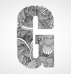 Letter g from doodle alphabet vector
