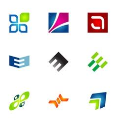 Logo design elements set 78 vector