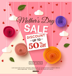 Mothers day sale banner template vector