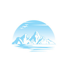 mountain lanscape logo image vector image vector image