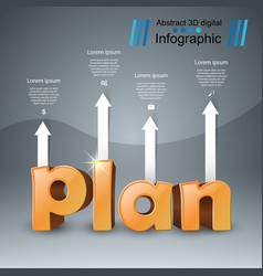 plan 3d business infographics vector image vector image