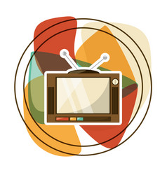 Retro entertainment television technology vector