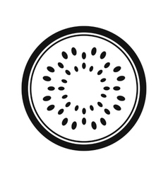 Sliced watermelon simple icon vector image vector image