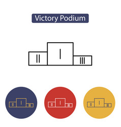 sport winners podium vector image