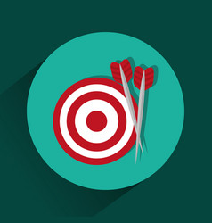 Target dartboart symbol vector