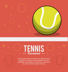 tennis sportball tournament image vector image vector image