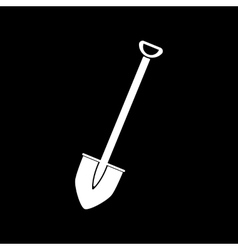 The shovel icon spade symbol flat vector