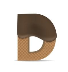 Wafer D letter vector image