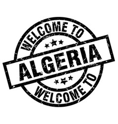 Welcome to algeria black stamp vector