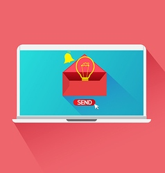 Concept send email idea vector