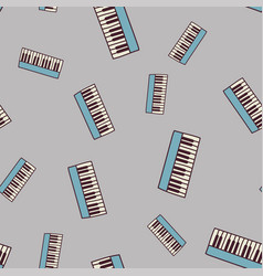 Seamless piano pattern vector